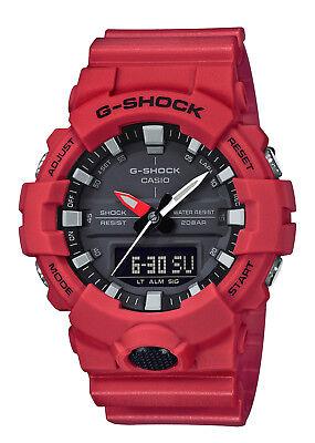 Casio Analog Digital Illuminator Watch (Casio G-SHOCK GA800-4A Red Super Illuminator Analog Digital 200m Men's)