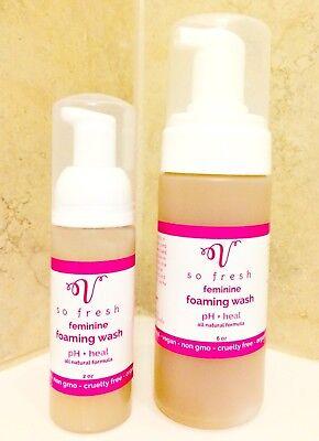Vagina Wash Foam Itching Odor Made USA Organic All Natural pH Balance 6 ounce