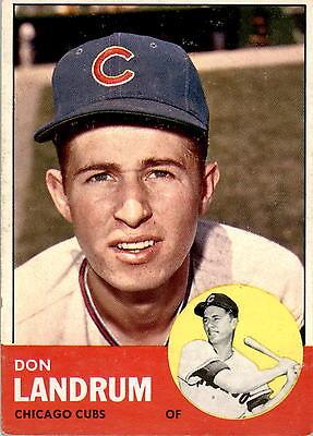 1963 Topps 113 Don Landrum Vg Ex  D381398