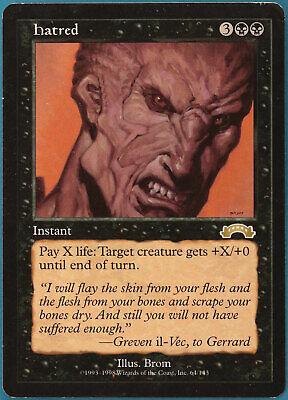 Hatred Exodus VERY HEAVILY PLD Black Rare MAGIC MTG CARD (ID# 115100) ABUGames