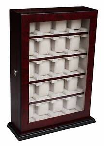 Luxury Wooden watch cabinet box Black for 20 watches Auburn Auburn Area Preview