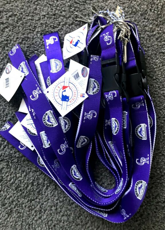 MLB Official Lanyard / Colorado Rockies / 10 Pieces / Purple / NEW / Keychains