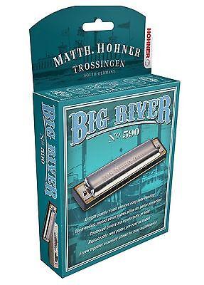 "HOHNER BIG RIVER 590 HARMONICA ""A"" HARP BRAND NEW IN CASE SALE"