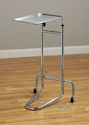 New Mobile Stainless Steel Tray Mayo Stand With Removable Tray - 222