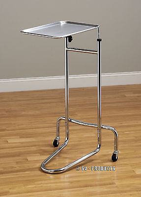 Mobile Stainless Steel Tray Mayo Stand With Removable Tray - 222