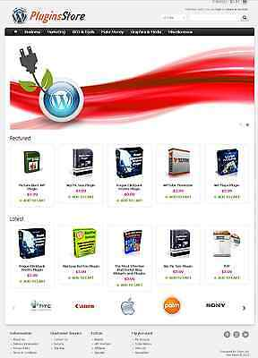 Wordpress Plugins Store Website For Sale   30  Products Preloaded