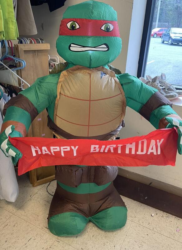 Teenage Mutant Ninja Turtles Airblown Happy Birthday Inflatable 3.5