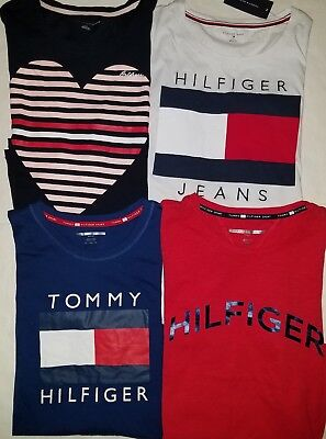 TOMMY HILFIGER womens t shirt Graphic Tee Pick your Color