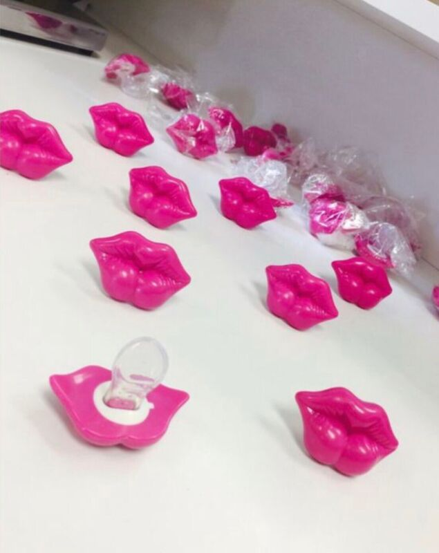 Pink Lips Pacifier