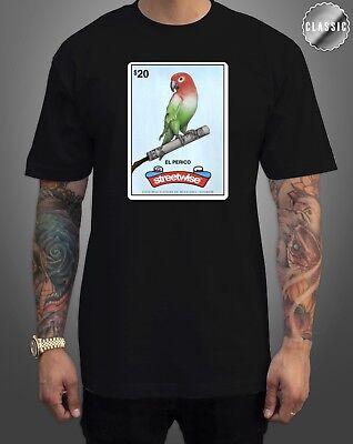 Burgund Grafik (Streetwise Perico Grafik T-Shirt Schwarz & Burgund M-L-XL-2XL-3XL-4XL-5XL)