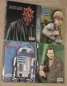 STAR-WARS-4-SCHOOL-BINDERS-FOLDERS-ANAKIN-R2-D2-C3PO-OBI-WAN-QUI-GONN-DARTH-MAIL