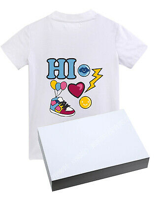 40x Sublimation Paper Iron On Heat Press Transfer For Light T-shirt Inkjet Print