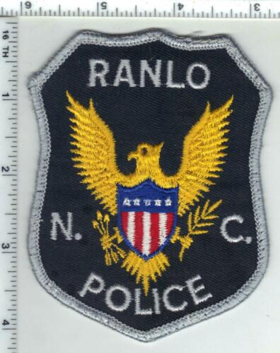 Ranlo Police (North Carolina) 1st Issue Uniform Take-Off Patch