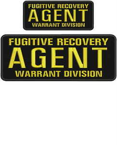Fugitive Recovery Agent Warrant Division embroidery patch 4x10 & 2.5x6 hook