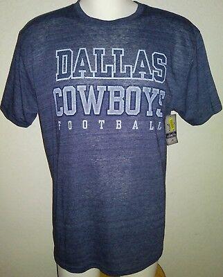NWT Dillards Adult Dallas Cowboys Gray or Blue Team T Shirt Authentic Apparel (Dallas Cowboys Team)