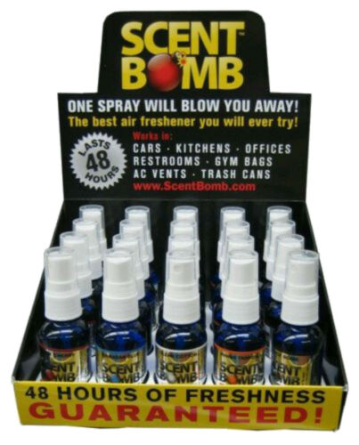 5 ASSORTED Strong Scent Bomb Air Freshener 100%  High Concentrated 1 oz (5 Pack)