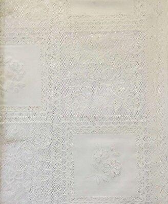 ststoff Weiß Spitze PVC Vinyl Abwischen Tischdecke (Kunststoff-spitze Tischdecken)