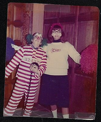 Vintage Photograph Two People Wearing Costumes - Halloween