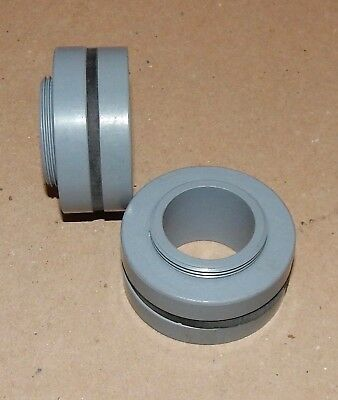 34 Pvc Grey Bulkhead Fittings 2ea Rain Barrels Aquariums Watertanks Ponds 135p