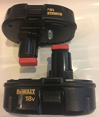 (2) NEW DeWALT DC9098 18V 18 Volt NiCd Battery Packs For DC825 DC970 DC759 DC720