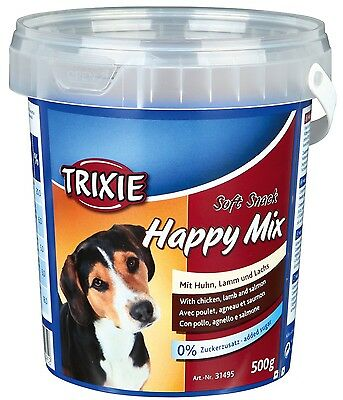 Trixie Soft Snack Happy Mix Training Treats Chicken Puppy and Adult Dog 500g