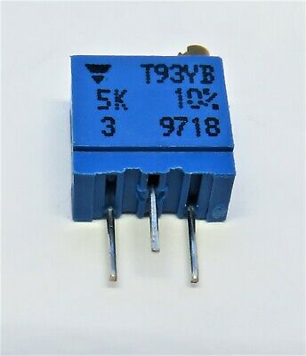 Vishay T93ya 10 5kohm Trimpot Potentiometer 10-pc Lot