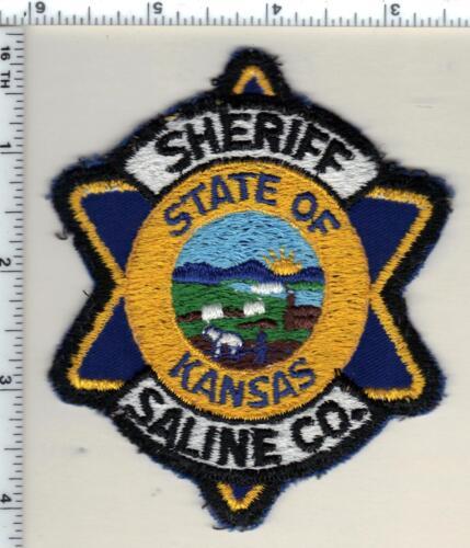 Saline County Sheriff (Kansas) uniform take-off patch from 1987