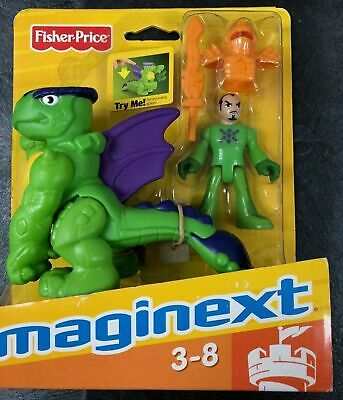 2009 Fist Pounding Green Dragon Knight Fisher Price Imaginext Castle New