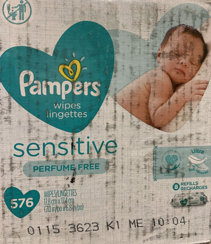 Baby Wipes Pampers Sensitive Water Based Baby Diaper Wipes Hypoallergenic and...