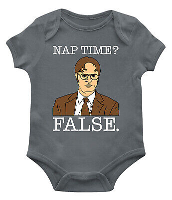 Dwight Nap Time? False Funny TV Show Character Kid Humor Infant Toddler Bodysuit](Baby Tv Characters)