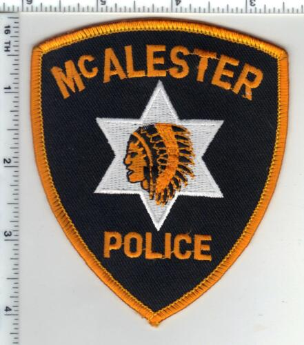 McAlester Police (Oklahoma) Shoulder Patch from the 1980