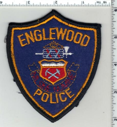 Englewood Police (Colorado) 1st Issue Uniform Take-Off Shoulder Patch