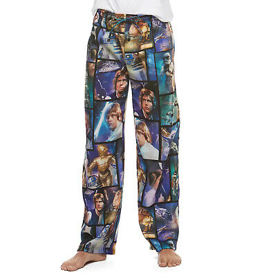STAR WARS Men's LOUNGE PANTS Pajama Bottoms PJs Fleece Lucas Disney L M S Adult