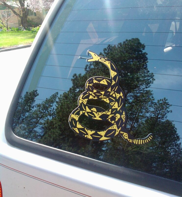 "Dont Tread On Me Stickers Gadsden Flag Snakes Die Cut Decal 2 pack 5"" tall"