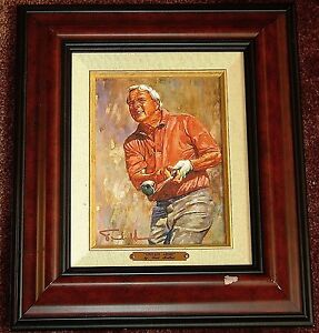 Scott Medlock Signed Golf Print - Tribute To ARNOLD PALMER - Matted & Framed