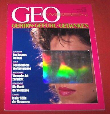 GEO Wissen 1987 Nr  1 , Gehirn - Gefühl - Gedanken , Erstes Heft der Serie ,