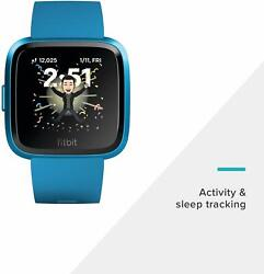 Fitbit Versa Lite Edition Smart Watch GPS Heart Rate Sleep Stages Fitness Blue