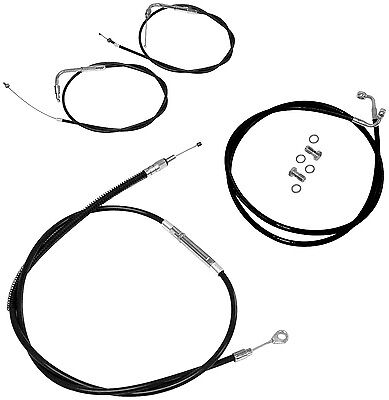 La Choppers Black Cable Kit Brake Clutch 2008-2013 Harley Flh Touring Flhx on sale