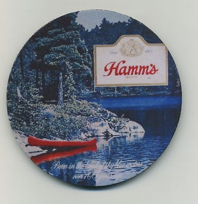 Hamm's Beer - Sky Blue Waters - Coaster  - Red Canoe