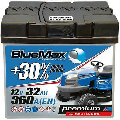Rasentraktor Aufsitzmäher Batterie 12V 32Ah C60-N30L-A BlueMax Y60-N30L-A 30Ah John Deere Honda