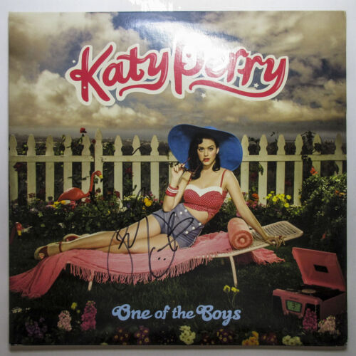 *I KISSED A GIRL* Katy Perry Signed One Of The Boys Vinyl Album EXACT Proof JSA