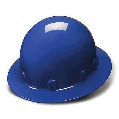 Pyramex Hard Hat Blue Sleek Full Brim With 4 Point Ratchet Suspension Hps24160