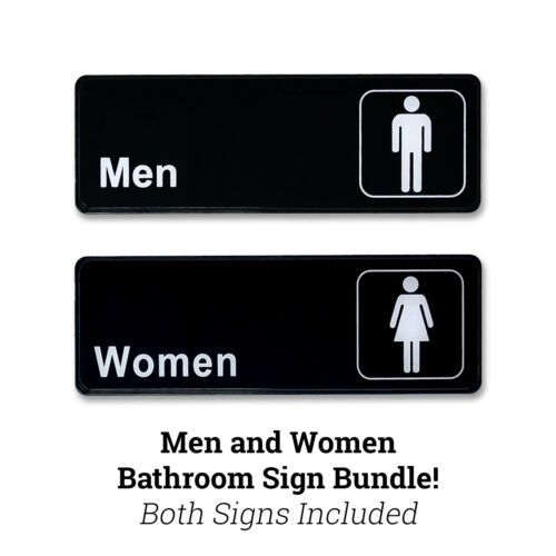 Men and Women Restroom Sign - Men and Women Bathroom Sign 9 inches x 3 inches