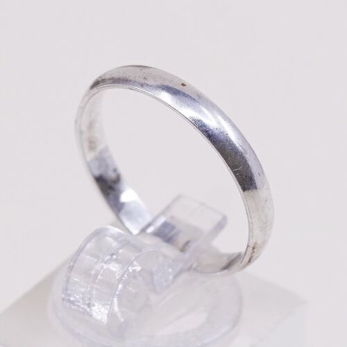 Sz 7.5, Vtg Wheeler Sterling Silver Handmade Wedding Ring, Navajo 925 Band - $18.00