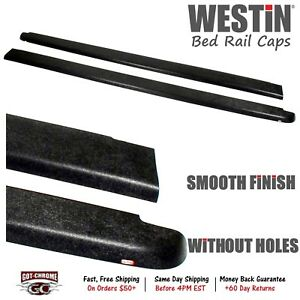72-00711 Westin Black Bed Rail Caps Toyota Tacoma 6' 1995-2004