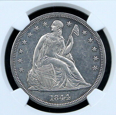 Click now to see the BUY IT NOW Price! 1844 SEATED LIBERTY DOLLAR $1 NGC UNC DETAILS - UNCIRCULATED MS BU - !!!