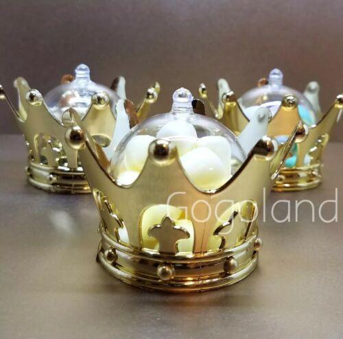 12 Baby Shower Favors Fillable Gold Crown Princess Party Dec