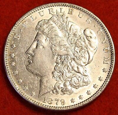 1879 P  1 Morgan Dollar Bu 90  Silver Liberty Collector Coin Chk Out Store Mg340