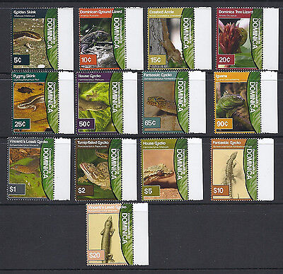 DOMINICA 200? LIZARD defintive set complete (SG?) VF MNH