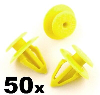 50x Ford Interior Door Card & Panel Retainer Plastic Trim Clips